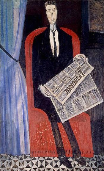 pintura de homem lendo
