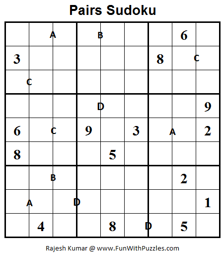 Pairs Sudoku  (Fun With Sudoku #31)