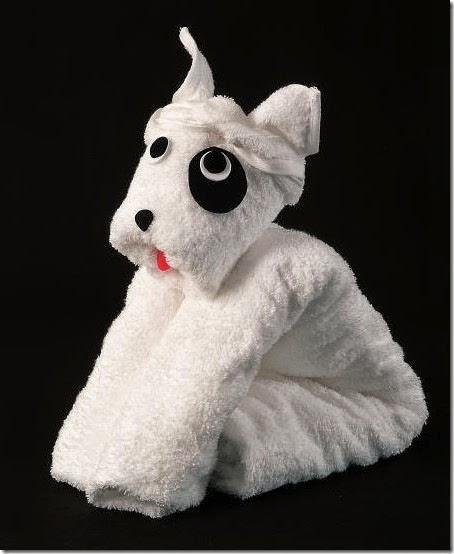 towel origami dog