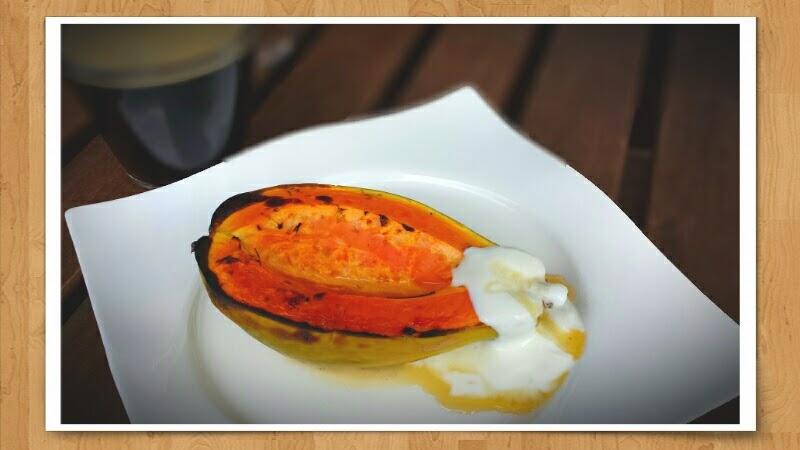 Gegrillte Papaya