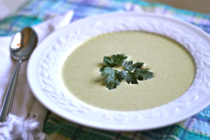 Cream of asparagus soup with crab: a recipe | Yankee Kitchen Ninja