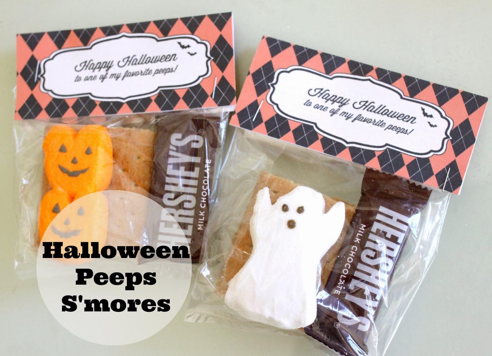 The Larson Lingo: Halloween Peeps S'mores {Free Printable}