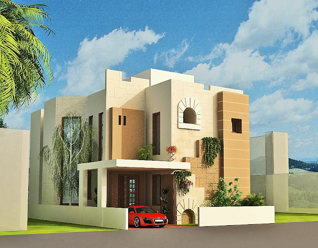 D Front Elevation Software : D front elevation home design