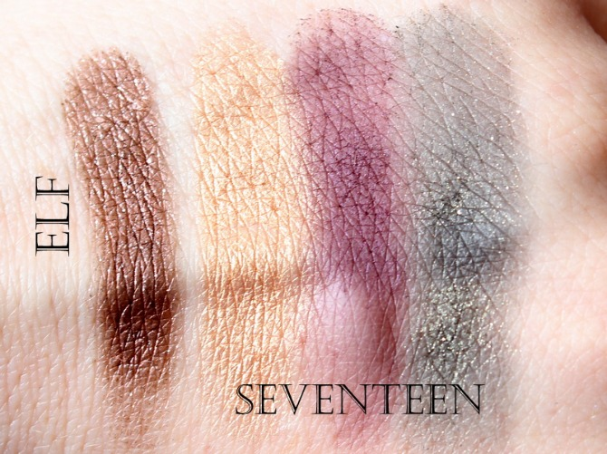 Autumn high street eye makeup swatches