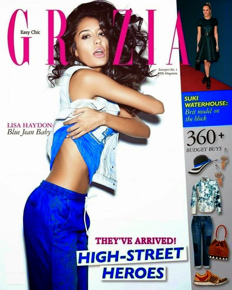 Lisa Haydon on the Cover of Grazia Magazine