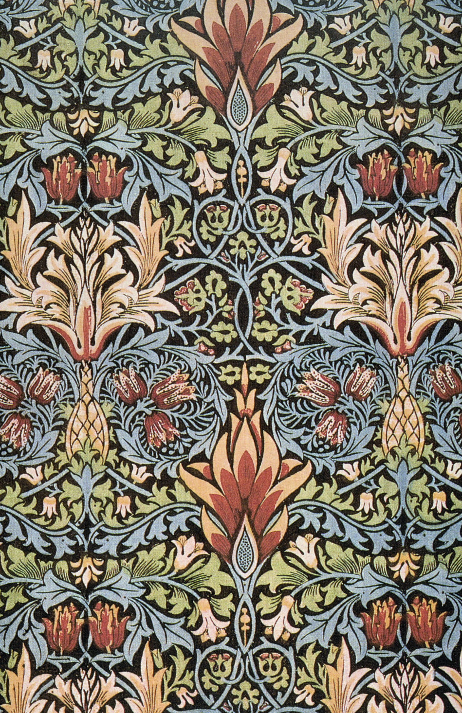 Art artists william morris wallpaper textiles for Arts and crafts style prints