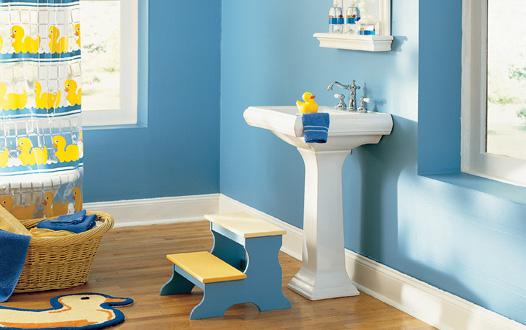 10 meilleurs sch mas de couleur pour salle de bain d cor - Salle de bain jaune et bleu ...