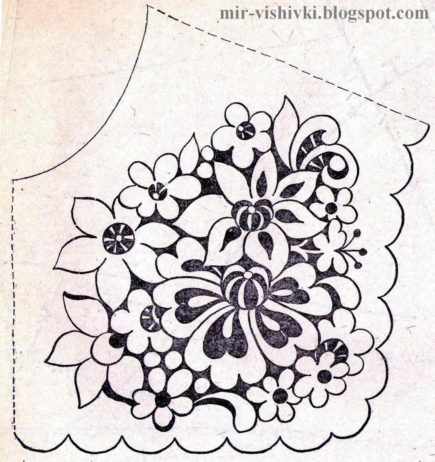 Схема вышивки ришелье скатерть