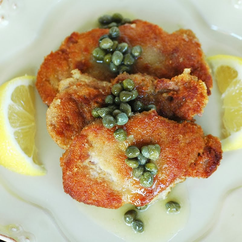 Pork Schnitzel with Lemon Caper Butter