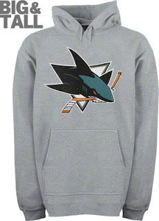 San Jose Sharks Big and Tall Long Sleeve Hooded Sweatshirt