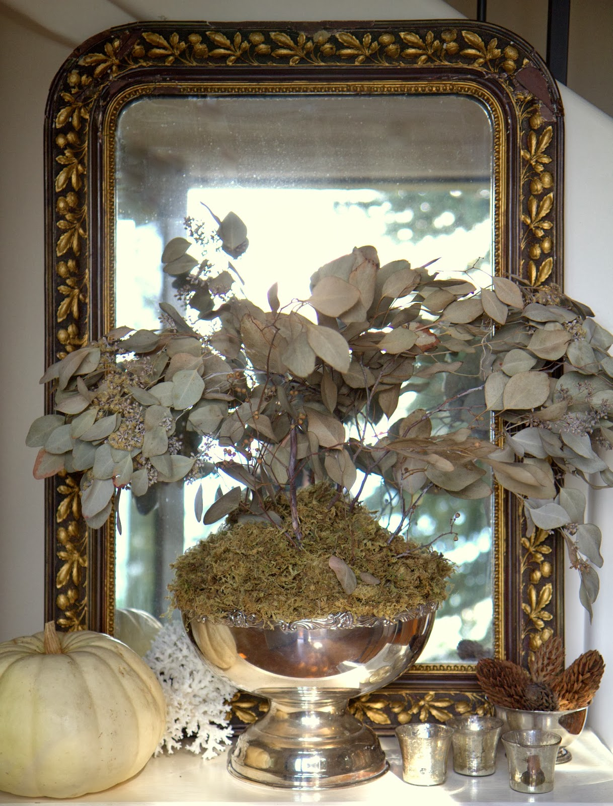 Autumn Leaf Bouquet in My Foyer