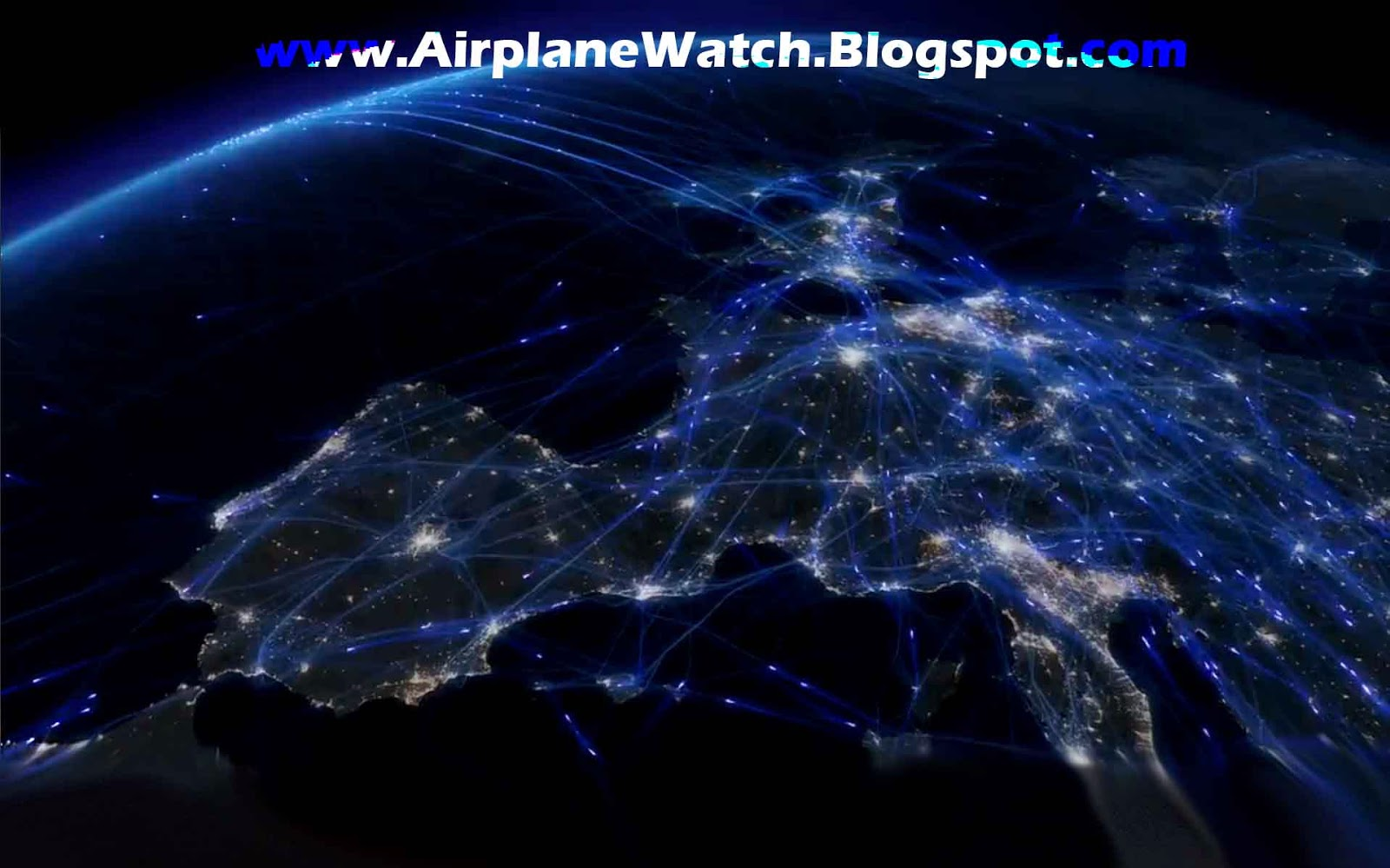 Amazing European Air Traffic Simulation in 24 Hour Period