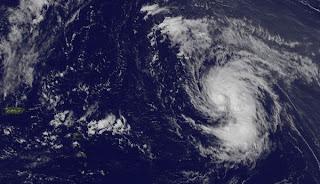 Tropischer Sturm NADINE: Azoren oder Kanaren, Nadine, aktuell, Azoren, Atlantische Hurrikansaison, Satellitenbild Satellitenbilder, Vorhersage Forecast Prognose, September, 2012, Hurrikansaison 2012, Zugbahn, Verlauf,