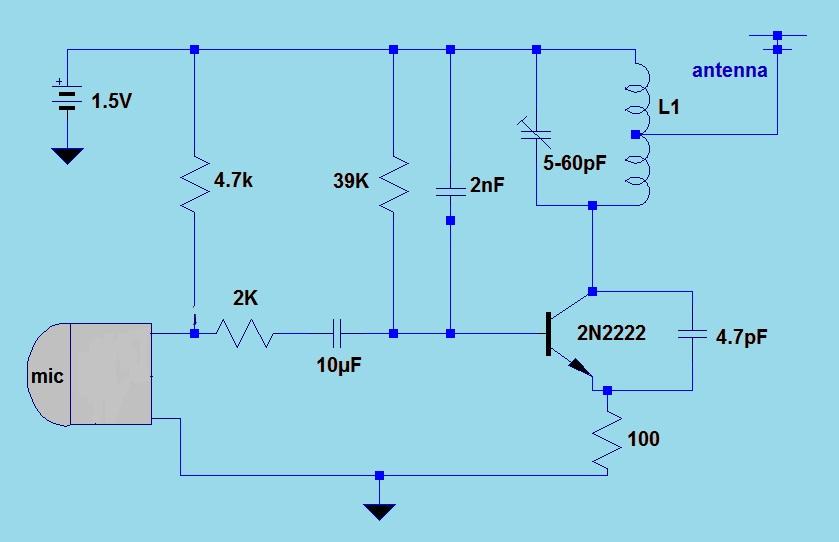 schematic wiring diagram 2011 1 5v simple fm transmitter