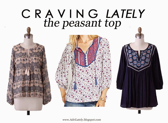 cute peasant tops