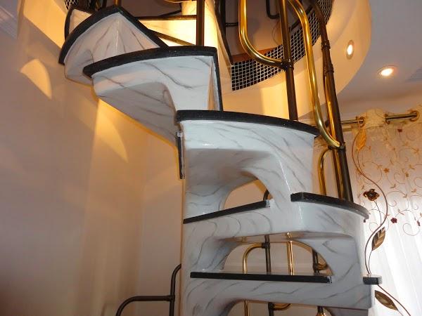 Pintura Marmorizada - Escadas e Colunas