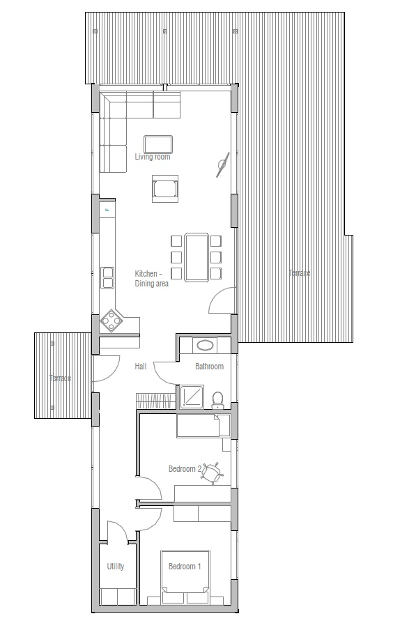 Affordable home plans economical house plan ch12 for Economic house plans