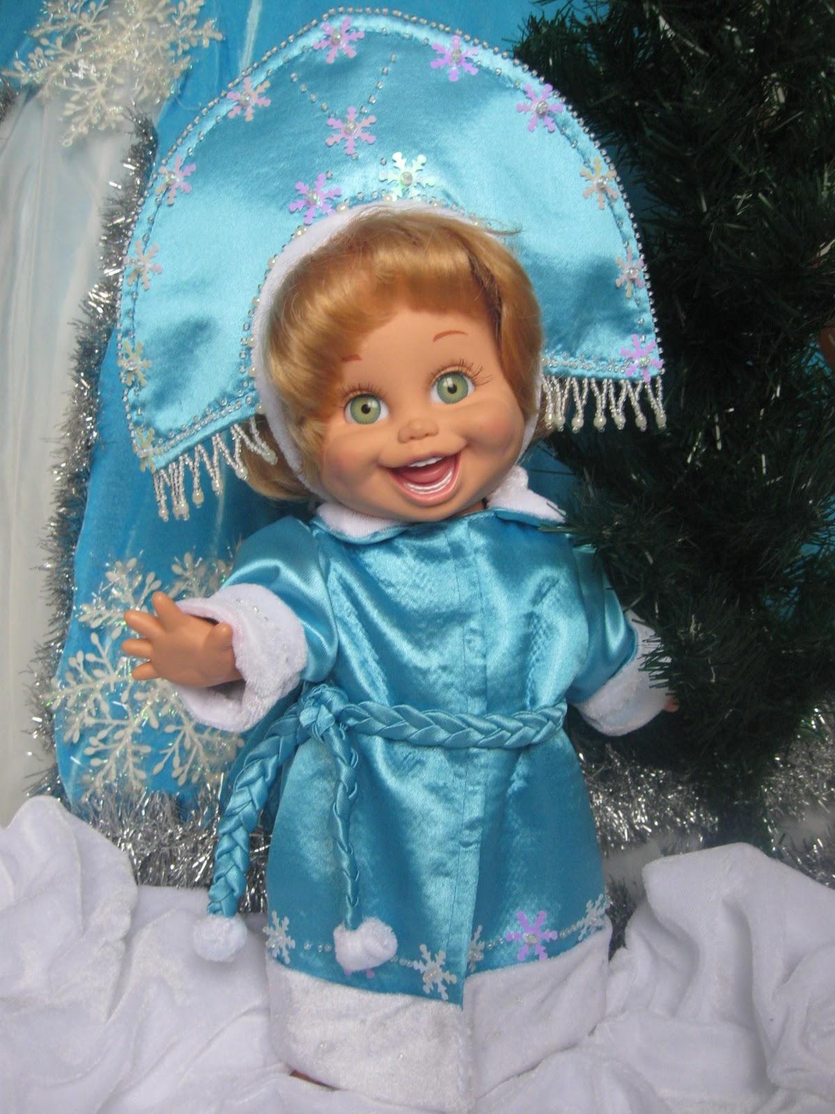 Платья снегурочек. своими руками