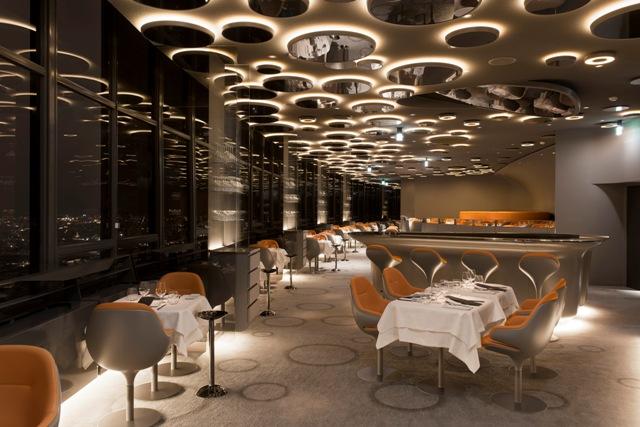 un diner dans le restaurant le plus haut d 39 europe au ciel