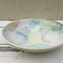 ぼんぼり柄のパスタ皿