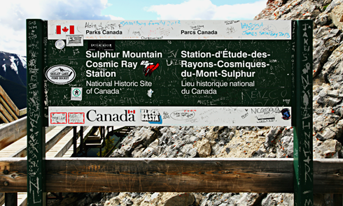 sulphur mountain cosmic ray station alberta rocky mountains travel photography