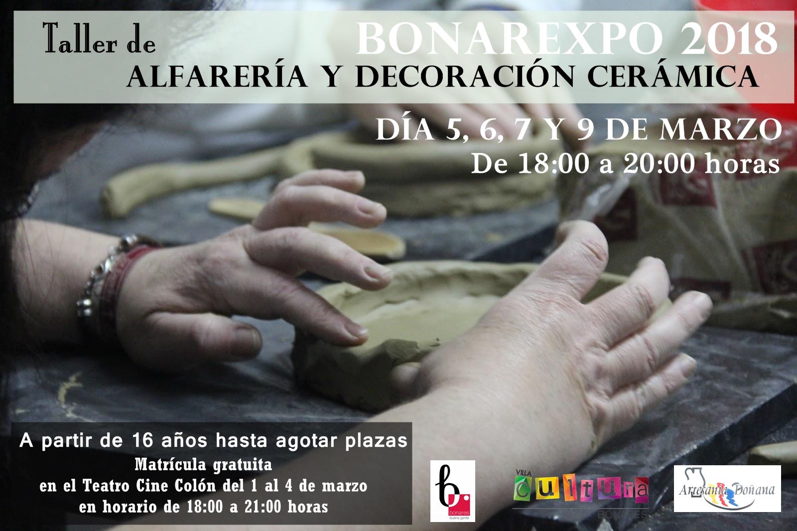 TALLER DE ALFARERÍA Y DECORACIÓN CERÁMICA - BONAREXPO 2018