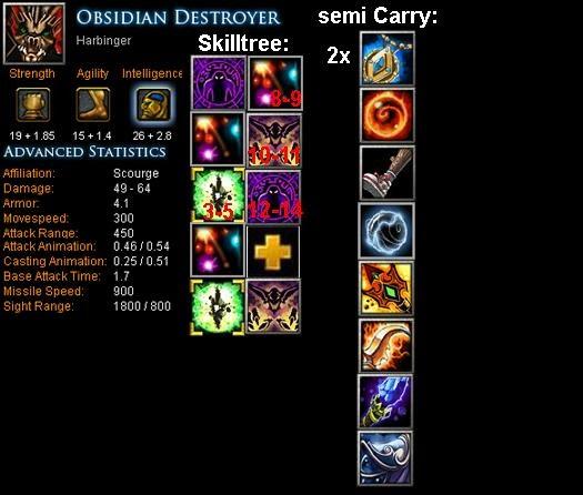 Obsidian Destroyer Harbinger Item Build Skill Build