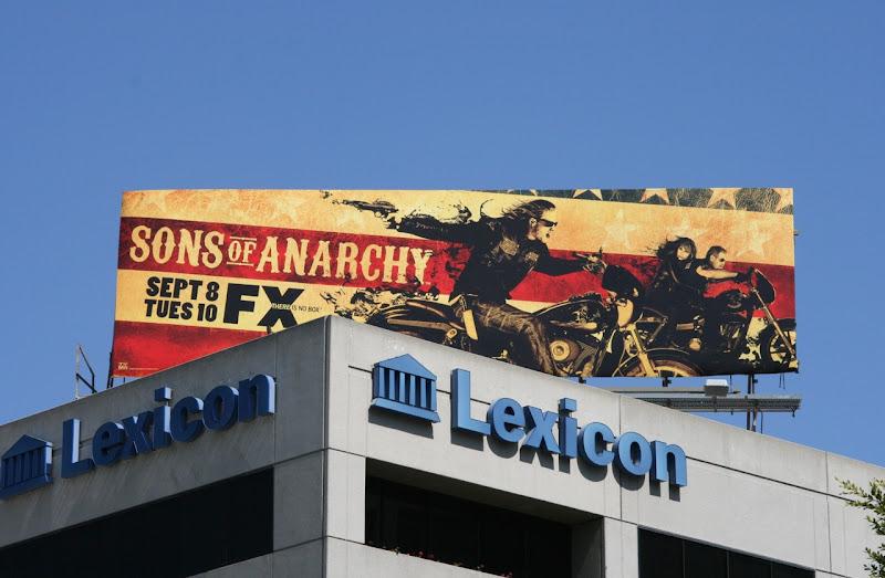 Sons of Anarchy season 2 billboard