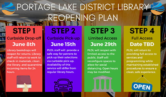 Portage Lake District Library to begin Step 2 of Reopening June 15
