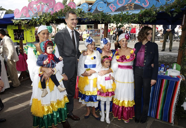 King Felipe And Queen Letizia Visit Colombres
