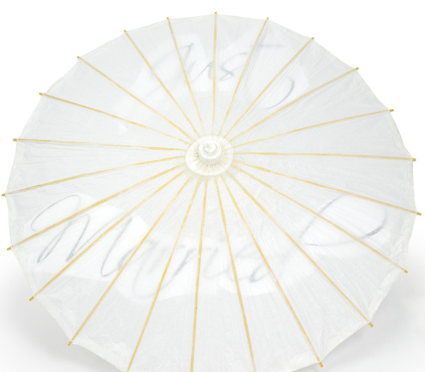 diy, painted, wedding, parasol, tutorial, paper parasol, umbrella