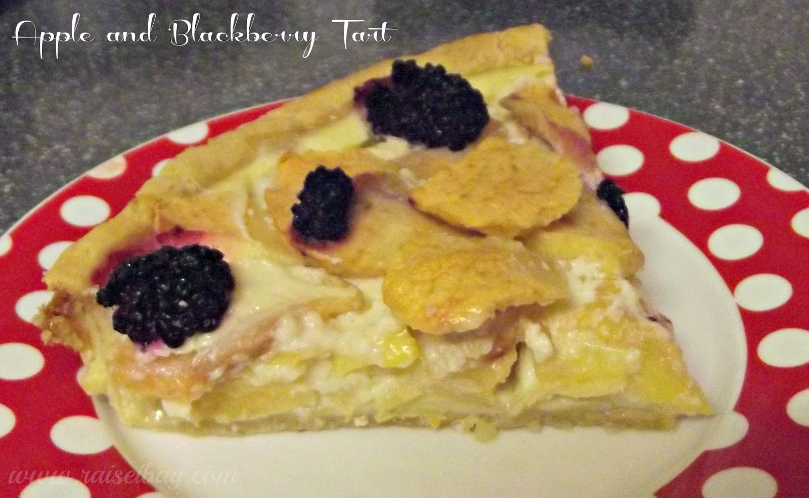 apple and blackberry tart