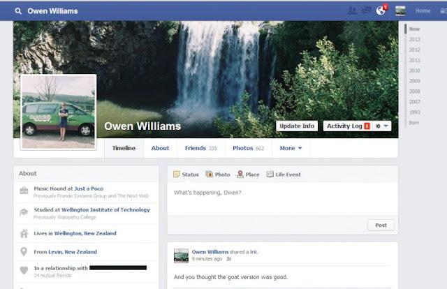 الشكل الجديد لتايم لاين الفيس بوك الذي سيتم العمل به قريباً | Facebook New Timeline
