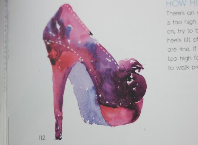 Watercolour illustration of a shoe