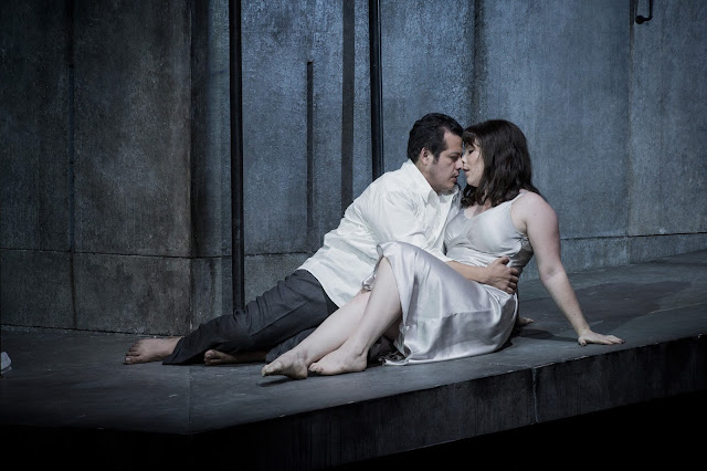 Joel Montero and Natalya Romaniw - Montemezzi's L'amore dei tre Re - Opera Holland Park - photo Robert Workman