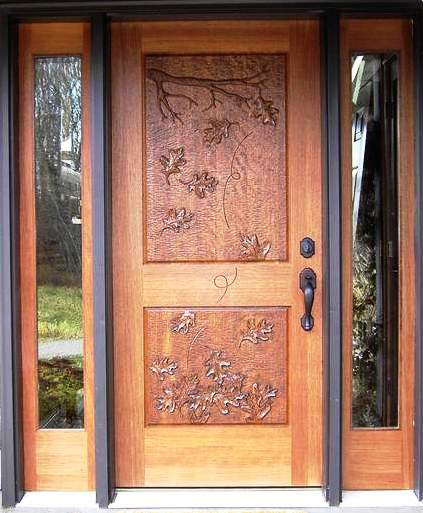 Style Wood Carving Doors Design