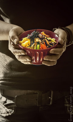 Delicious and Healthy Korean Dish Bibimbap/Bibimbab . If you have leftovers this dish is for you.