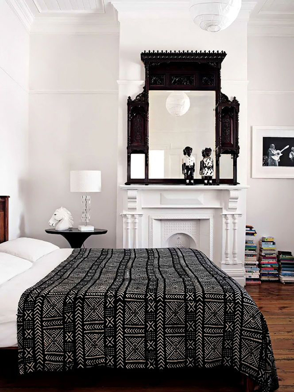 Eclectic b&w bedrooms