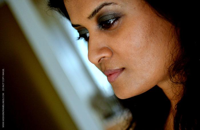 FOTD Brown Green Teal Smoky Eye Makeup Fall Trends Indian Beauty Blog