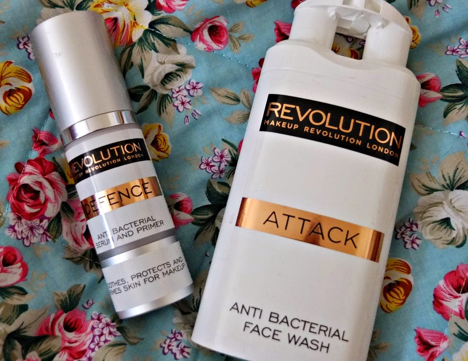Make Up Revolution Skin Care Review  Defence Antibacterial Primer + Attack Anti Bacterial Face Wash