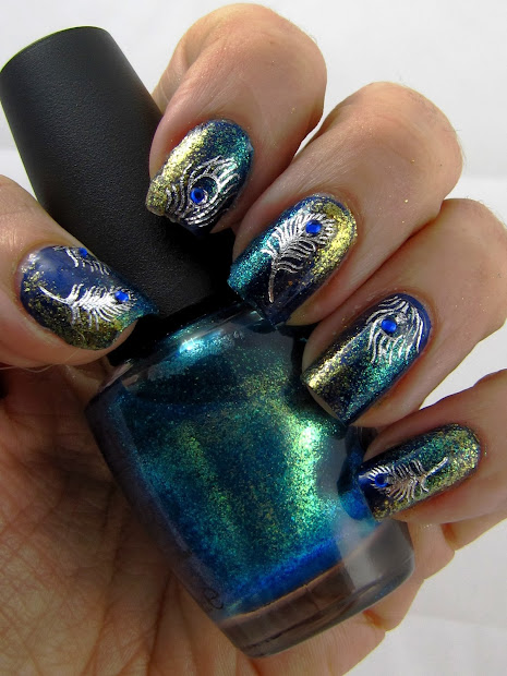 top 9 peacock nail art design