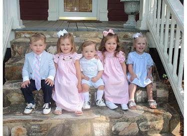 My girls with my niece & nephews