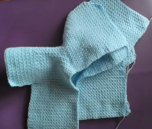 Artes anas capucha para chaquet n beb tutorial - Puntos para calcetar ...