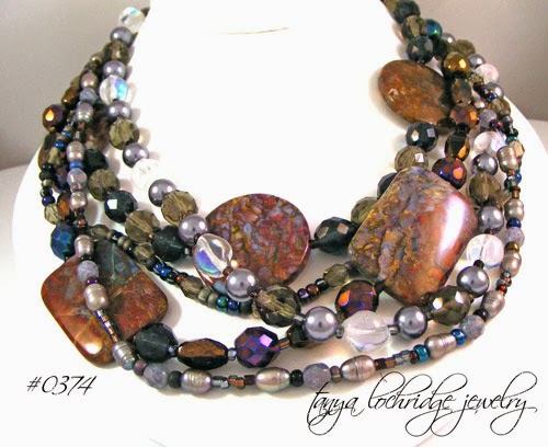 Tanya Lochridge Jewelry Pietersite & Pearl Necklace