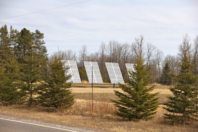 free-standing photovoltaic panels, northern Minnesota