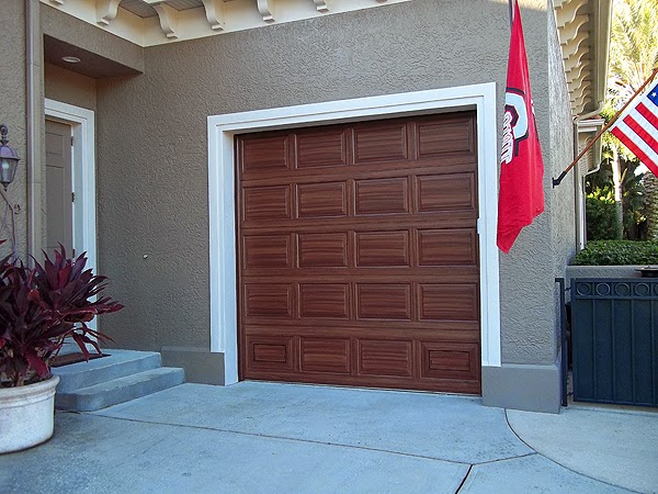Painting both garage doors complete everything i create for Painting garage door to look like wood
