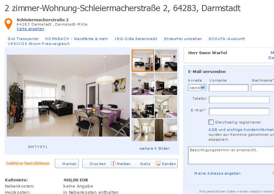 Swen wurfel informationen ber wohnungsbetrug for 3 zimmer wohnung darmstadt
