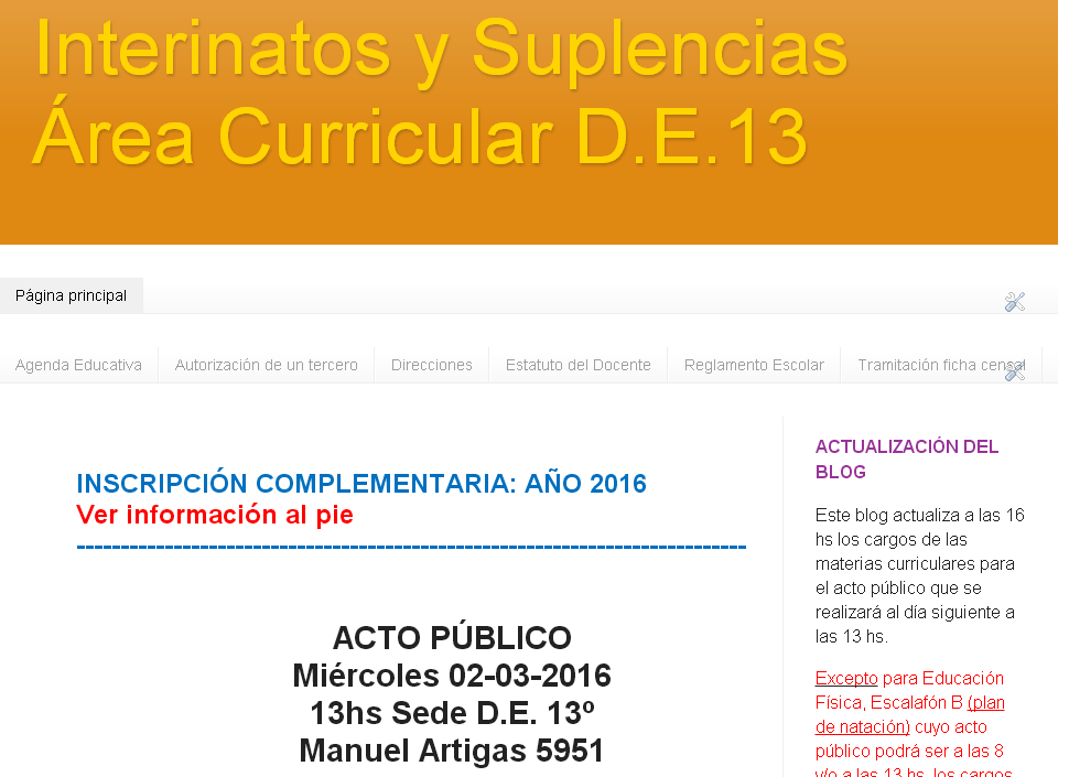 Blog Área Curricular de Materias Especiales