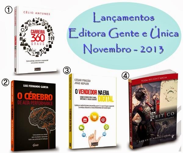 Lançamentos literários, Editora Gente e Única, Novembro 2013, Feitiço