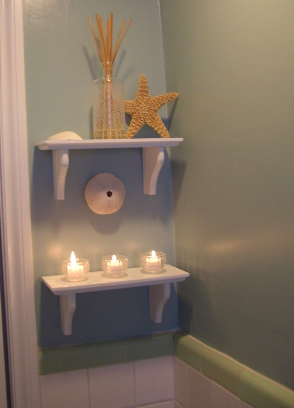 Cool home creations beach and garden for Beach themed bathroom decor